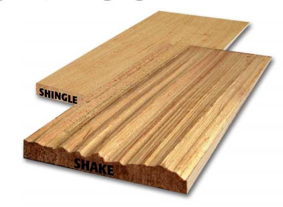 Differences Between Cedar Shakes And Cedar Shingles